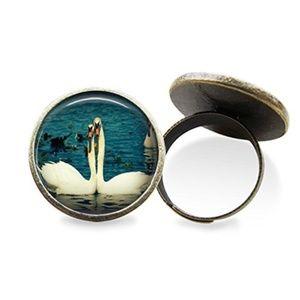 Swan Love Ring